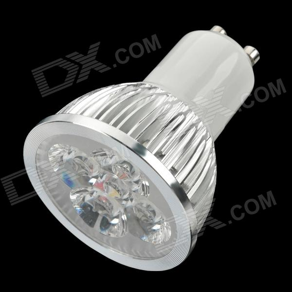 GU10 4-LED 360-Lumen 3500K Warm White Light Bulb (85~265V AC)