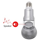 Wireless Rotatable Bulb IP Camera with LED Light and Remote Control