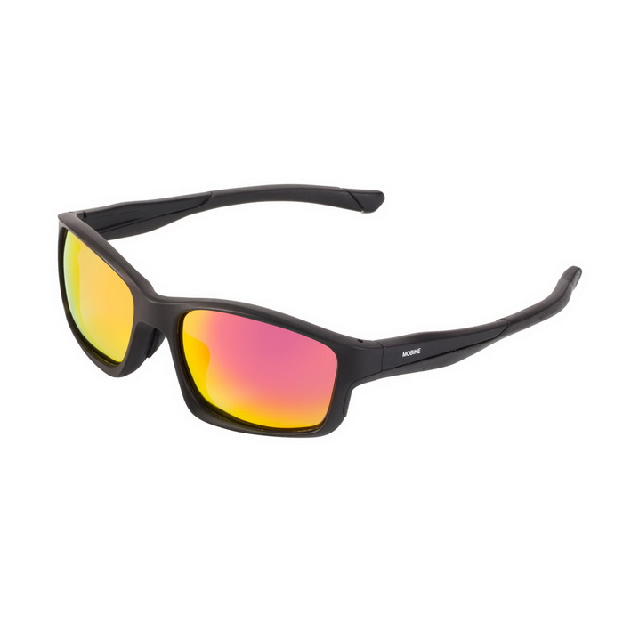 WG9252 Unisex Outdoor Lightweight Polarized Sunglasses - Red + Black
