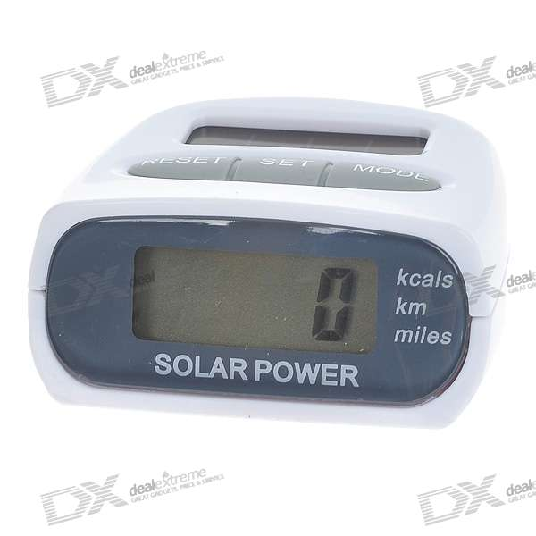 "0.9"" LCD Solar Powered Pedometer with Body Fat Analyzer (1*AG13)"