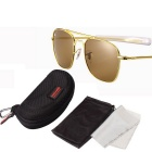 ReeDoon AO8054 UV400 Protection Sunglasses - Gold + Dark brown
