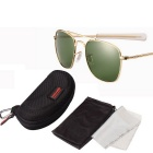 ReeDoon AO8054 UV400 Protection Sunglasses - Gold + Green