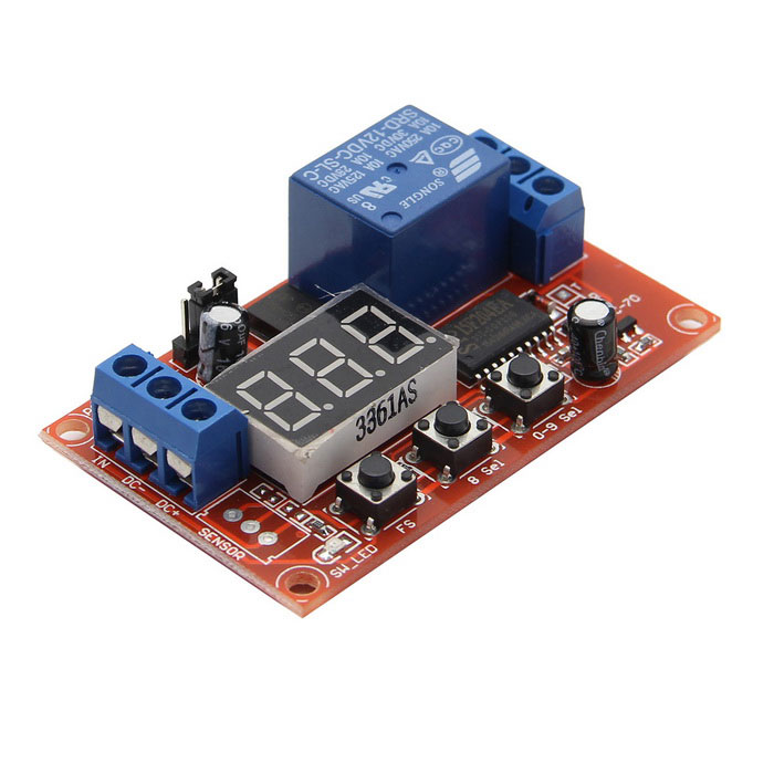 12V Digital Mobilize Multi-function Time Delay Relay ModuleBoards &amp; Shields<br>Form Color12V-Relay ModelN/AQuantity1 PieceMaterialPCB + Electronic ComponentsEnglish Manual / SpecNoPacking List1 * Relay Module<br>