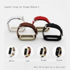 Leather Strap for Xiaomi Miband 2 -White