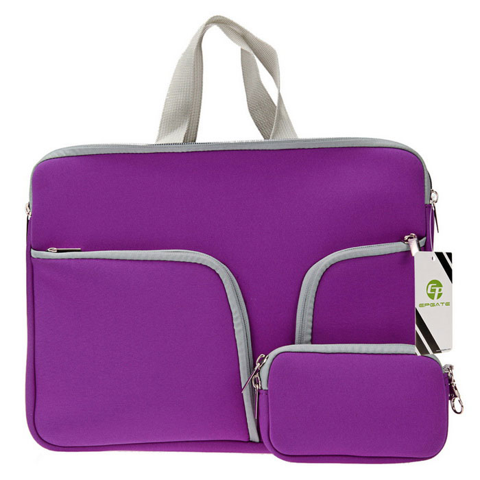 "EGate 13 "" neoprene 3 -bolsos laptop portátil saco + power bag - roxo"