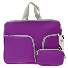 "EPGATE 13"" Neoprene 3-Pockets Portable Laptop Bag + Power Bag - Purple"