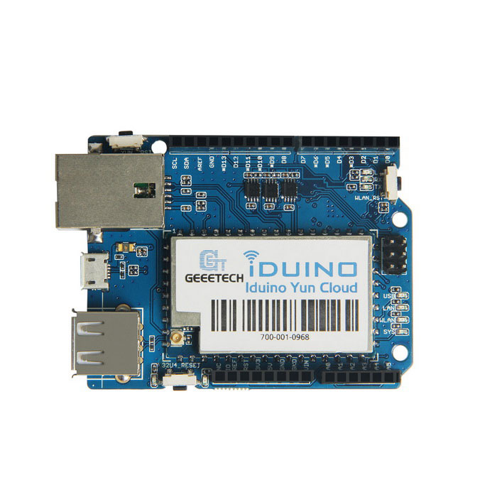 Geeetech Iduino yun cloud Expansion Board ModuleBoards &amp; Shields<br>Form ColorBlue + silver + BlackModelIduino yun cloudQuantity1 PieceMaterialPCBEnglish Manual / SpecNoPacking List1 * Module<br>
