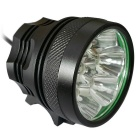 Super 9LED Water Resistant 3-Mode White LED Bike Light for Bicycle