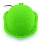USB 2.0 Creative Cartoon Turtle Optical Wired Computer Mouse - Green