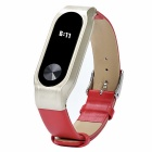 Leather Strap for Xiaomi Miband 2 - Red