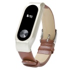Leather Strap for Xiaomi Miband 2 - Brown