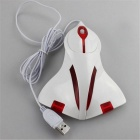 Maikou Wired USB 2.0 Gaming Mouse Plane Shape - White + red