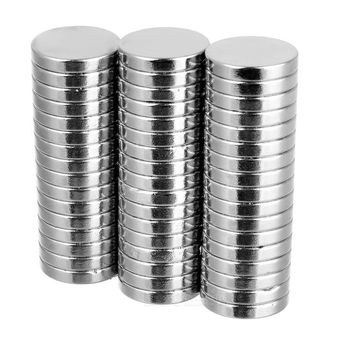 D16*16*3mm Cylindrical NdFeB Magnets - Silvery White (50PCS)