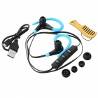HOOK Stereo Ear-hook Bluetooth Sports Earphone - Black + Blue