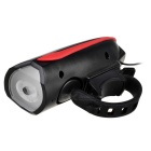 JCSP Rechargeable Bike Headlight w/ Loud Electronic Horn - Red + Black