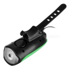 JCSP USB Bike Headlight w/ Loud Electronic Horn - Green + Black