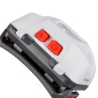 SUNREE Outdoor 6-Mode White + Red Light Cycling Headlamp - White