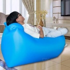 CTSmart Inflatable Sleeping Bag / Deck Chair w/ Pillow - Blue