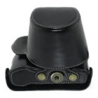 PU Leather Camera Case Bag for Olympus EPL7 Mini DSLR Camera - Black