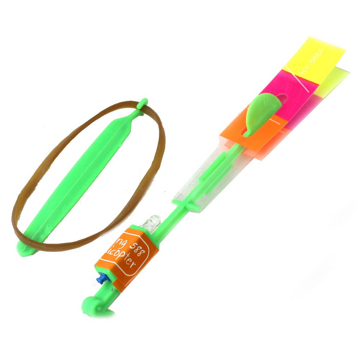 Flash UFO Ejection Flying Apsaras Arrows Rocket Toy (Random Color)