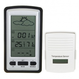 """BLCR 4"""" LCD Wireless Out/Indoor Weather Station"""