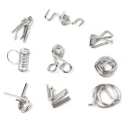Relieve Stress Unlock Toy Puzzle Toys - Silver (9PCS)