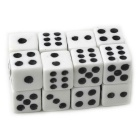 8mm White Background Black Spots Dice (16PCS)