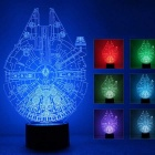 0.5W 3D Stereo Round LED Touch Night Light Colorful Gradient Lamp