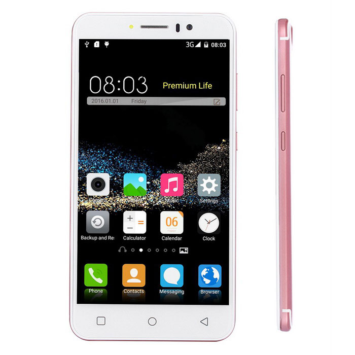 "P300 5.5"" Quad-Core Android 3G Smartphone w/ 1GB RAM, 8GB ROM - Pink"