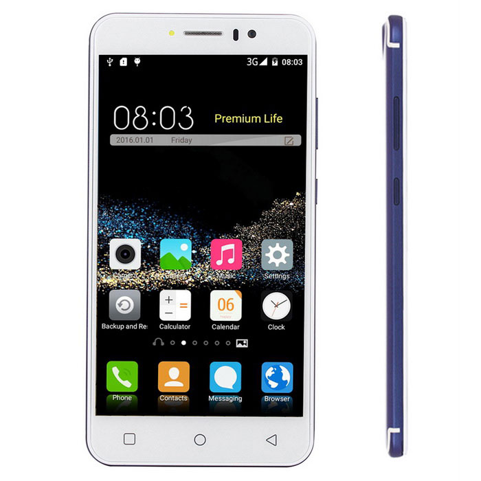 "P300 5.5"" Quad-Core Android 3G Smartphone w/ 1GB RAM, 8GB ROM - Blue"