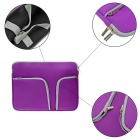 "EPGATE 15"" Neoprene 3-Pockets Portable Laptop Bag + Power Bag - Purple"