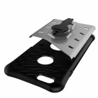 TPU + PC Back Case w/ Holder Stand for IPHONE 6/6S - Black + Silver