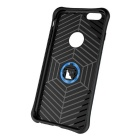 TPU + PC Back Case w/ Holder Stand for IPHONE 6/6S - Black + Blue