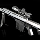 DIY 3D Puzzle Assembled Model Toy Barrett Sniper Rifle - Silver
