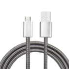 High Quality V8 Android Mobile Phone Charging Cable - Silver (85cm)