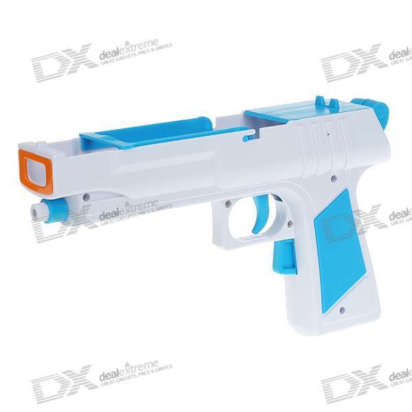 Plastic Motion Plus Function Laser Gun for Wii Remote and Nunchuck