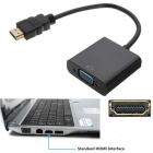 BSTUO HDMI Male to VGA Female W/ 3.5mm Audio Cable Converter Adapter