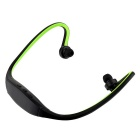 Bluetooth V4.0 Stereo Neckband Sports Earphones w/ TF Slot - Green