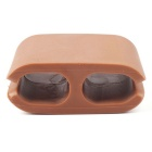 Silicone Headphone Cable Clip Organizers - Brown + White (6PCS)