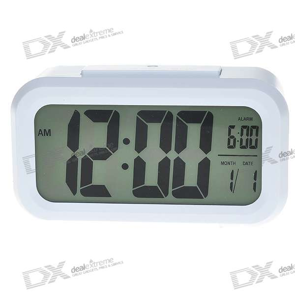 "4.5"" LCD Digital Clock + Alarm + Calendar with Blue Backlit (3*AAA)"