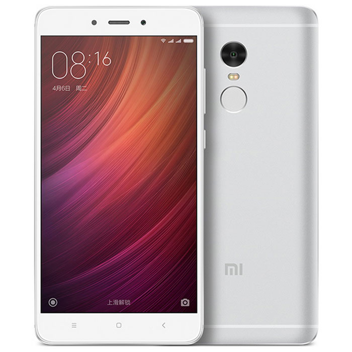 Xiaomi Redmi Note 4 5.5 Deca-Core Phone w/ 3GB RAM, 64GB ROM - SilverAndroid Phones<br>Form  ColorSilverRAM3GBROM64GBBrandXiaomiModelRedmi Note 4Quantity1 DX.PCM.Model.AttributeModel.UnitMaterialMetalShade Of ColorSilverTypeBrand NewPower AdapterUS PlugHousing Case MaterialMetalTime of Release2016-8Network Type2G,3G,4GBand Details2G GSM 850/900/1800/1900/2GCDMA 800/3GTD-SCDMA 1900/2000/3GWCDMA 850/900/1900/2100/3GCDMA2000/2GGSM 900/1800/2GGSM 900/1800/1900/3GCDMA 800MHz 1X&amp;EVDO/3GWCDMA850/900/1700/1900/2100MHz/4GTD-LTE)/4G(FDD-LTE? TDD-LTE bands 38(2600), 39(1900), 40(2300), 41(2500)? FDD-LTE bands 1(2100), 3(1800), 5(850), 7(2600), 8(900)Data TransferGPRS,HSDPANetwork ConversationOne-Party Conversation OnlyWLAN Wi-Fi 802.11 a,b,g,n,acSIM Card Quantity2Network StandbyDual Network StandbyGPSBDSNFCNoInfrared PortYesBluetooth VersionBluetooth V4.2Operating SystemAndroid 6.0CPU ProcessorHelio X20 MTK 10 core maximum frequency of 2.1GHzCPU Core QuantityDeca-CoreGPUMali T880 MP4 700MHzLanguageChinese, English, Traditional ChineseAvailable Memory58GBMemory CardYesMax. Expansion Supported128GBSize Range5.5 inches &amp; OverTouch Screen TypeCapacitive ScreenScreen Resolution1920*1080Multitouch10Screen Size ( inches)5.5Screen Edge2.5D Curved EdgeCamera Pixel13.0MPFront Camera Pixels5.0 DX.PCM.Model.AttributeModel.UnitVideo Recording Resolution1080p / 720p video shot, 30fps<br>720p slow motion video, 120fpsFlashYesAuto FocusYesTouch FocusYesOther Camera Functions5 piece lens, F 2 aperture<br>The color temperature of the flash<br>Support PDAF phase focus<br>Low light image enhancement technology<br>HDR high dynamic range adjustment technology<br>Panorama mode<br>Burst mode<br>Facial recognition function<br>Photo with real-time filterOther Camera FeaturesThe second generation of 36 intelligent beauty, real beauty self F 2 large aperture<br>Video call real beauty<br>Countdown timer<br>Facial recognition functionTalk Time24 DX.PCM.Model.AttributeModel.UnitStandby Time30 DX.PCM.Model.AttributeModel.UnitBattery Capacity4100 DX.PCM.Model.AttributeModel.UnitBattery ModeNon-removableQuick Charge5V / 2AfeaturesWi-Fi,GPS,FMSensorG-sensor,Proximity,Compass,Accelerometer,Fingerprint authentication sensorWaterproof LevelIPX0 (Not Protected)Dust-proof LevelNoShock-proofNoI/O InterfaceOthers,Micro USBSoftwareGoogle playFormat SupportedMP4/M4V/MKV/XVID/WAV/AAC/MP3/AMR/FLAC/APE/DSD/JAVANoTV TunerNoRadio TunerFMWireless ChargingNoReference Websites== Will this mobile phone work with a certain mobile carrier of yours? ==Packing List1 * Cell phone1 * Type-C Cable (100cm)1 * Charger (US plug / 100~240V/5V 2A)1 * English manual<br>