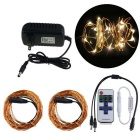 KWB 12W 20M 200-LED String Light w/ IR Controller, 12V 3A Power Supply