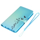 Colored Drawing PU Case for Samsung Note7 - White + Blue + Multicolor