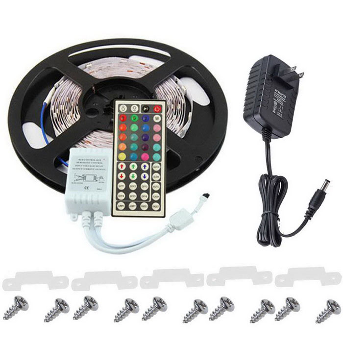 KWB 36W RGB 300-LED 3528 Light Strip w/ 44-Key IR Remote (12V 3A)