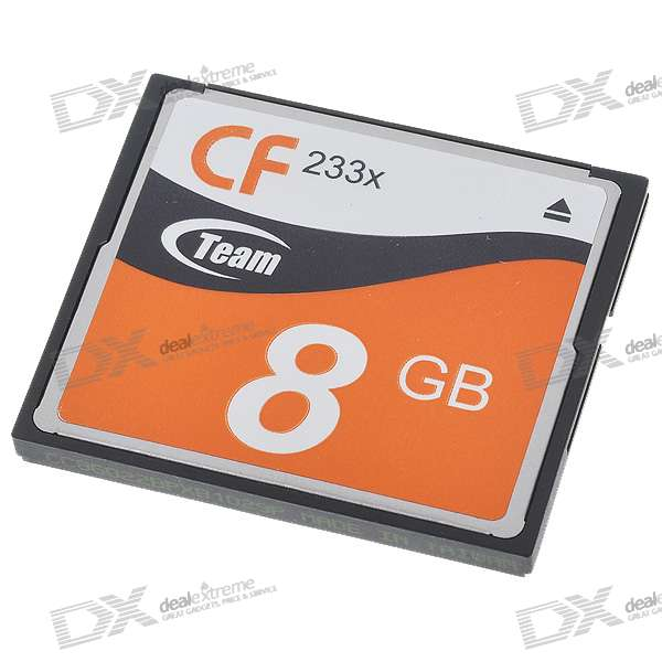 Genuine Team Group CF CompactFlash Memory Card - 8GB (233X)