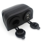 CS-287A1 2.1A Dual USB Charger Car Cigarette Lighter - Black