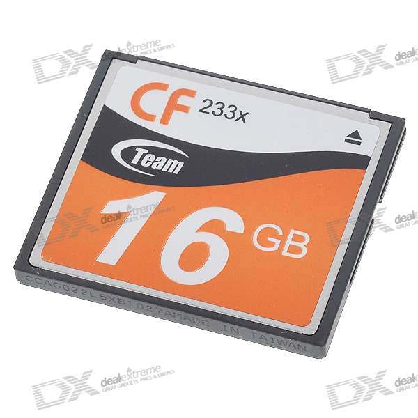 Genuine Team Group CF CompactFlash Memory Card - 16GB (233X)