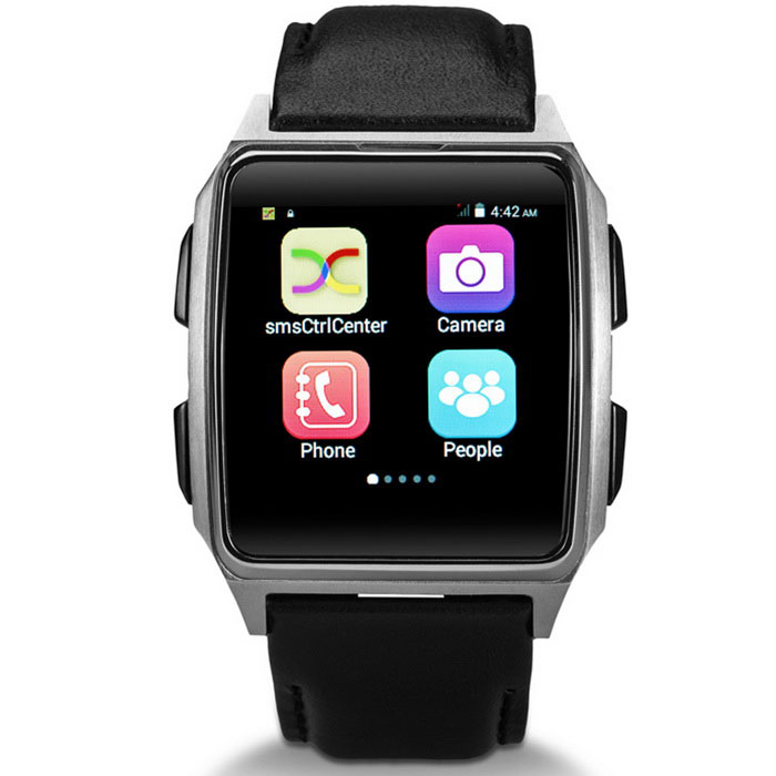 X2 Elderly GPS Position Watch / Android 4.4 Smart Watch Phone - Black