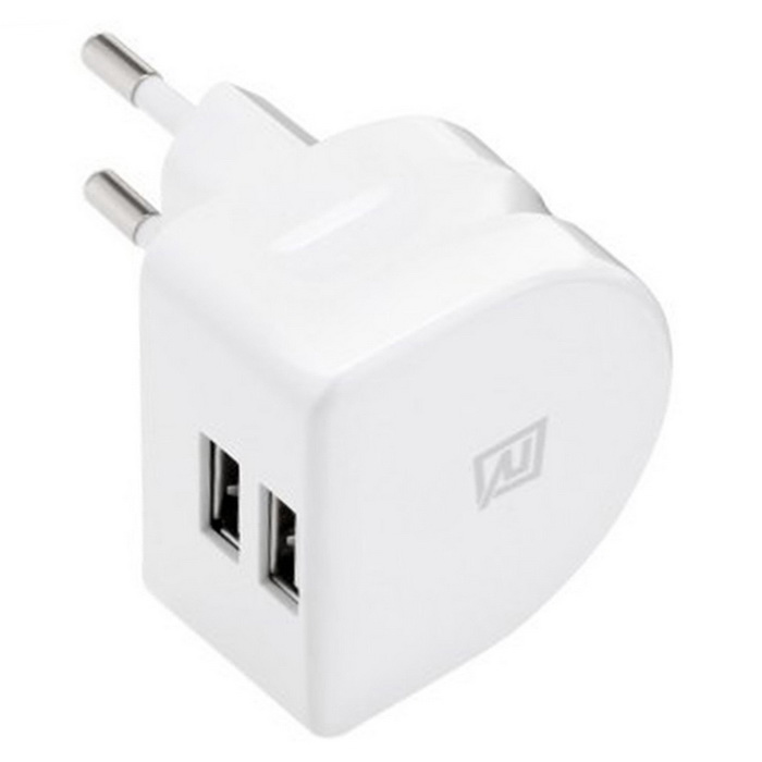 Remax RMT7188 adaptador de corriente 2 - USB - blanco ( enchufe de la UE )