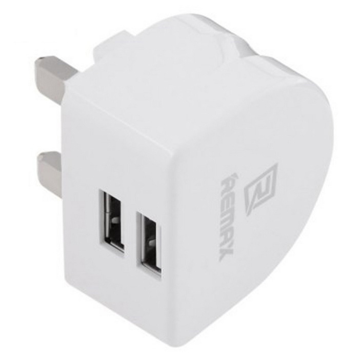 Remax RMT 7188 adaptador de corriente 2 - USB - blanco (enchufe UK )